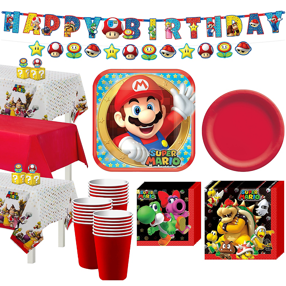 Super Mario Tableware Party Kit for 24 Guests Image #1