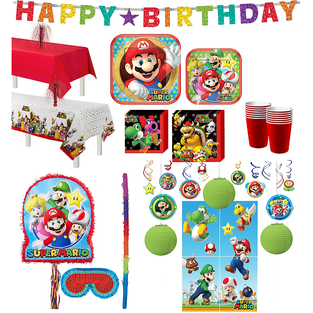 Super Mario Tableware Ultimate Kit for 16 Guests Image #1