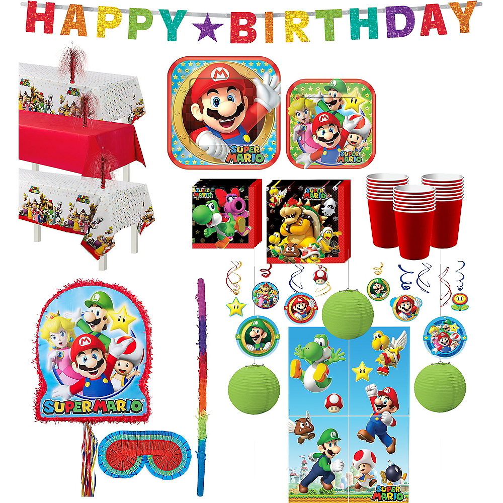 Super Mario Tableware Ultimate Kit for 24 Guests Image #1