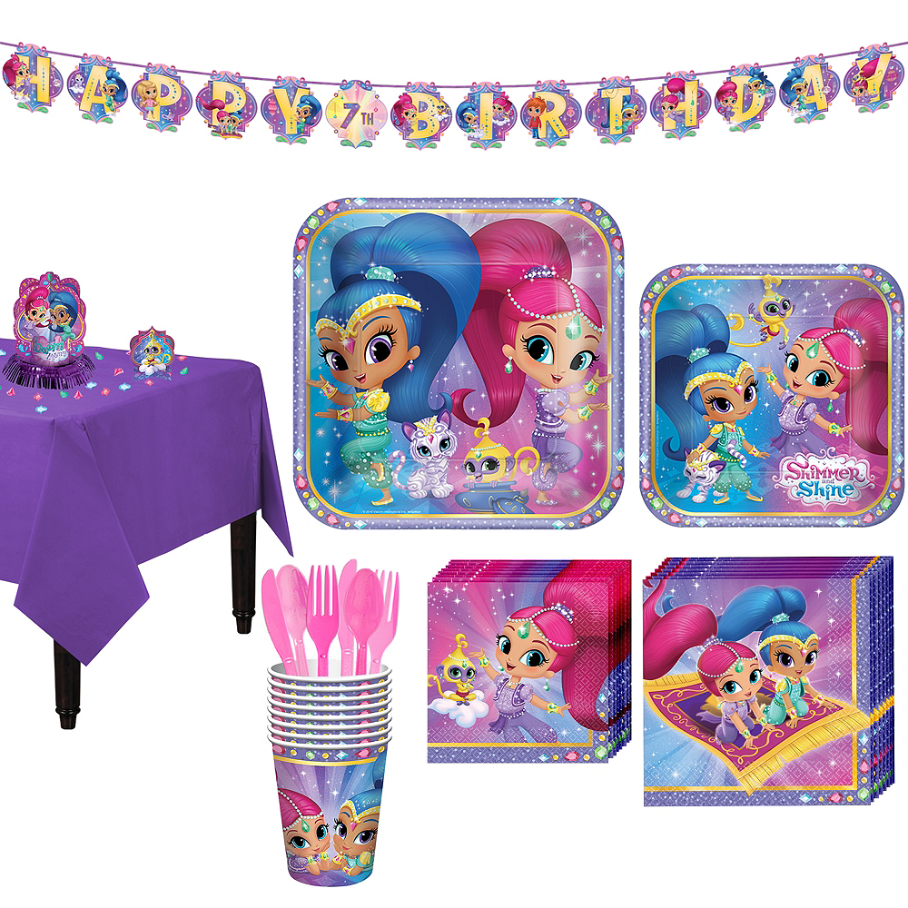 Shimmer and Shine Tableware Party Kit for 8 Guests Image #1