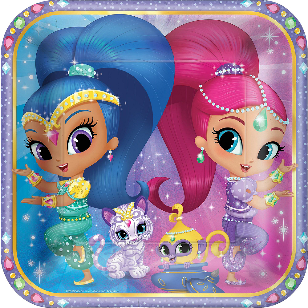 Shimmer and Shine Tableware Party Kit for 8 Guests Image #3