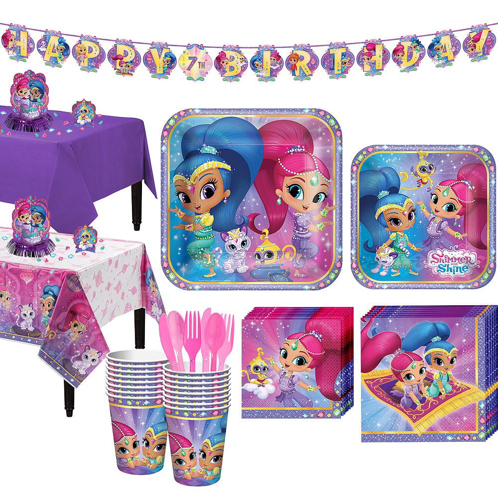 Shimmer and Shine Tableware Party Kit for 16 Guests Image #1