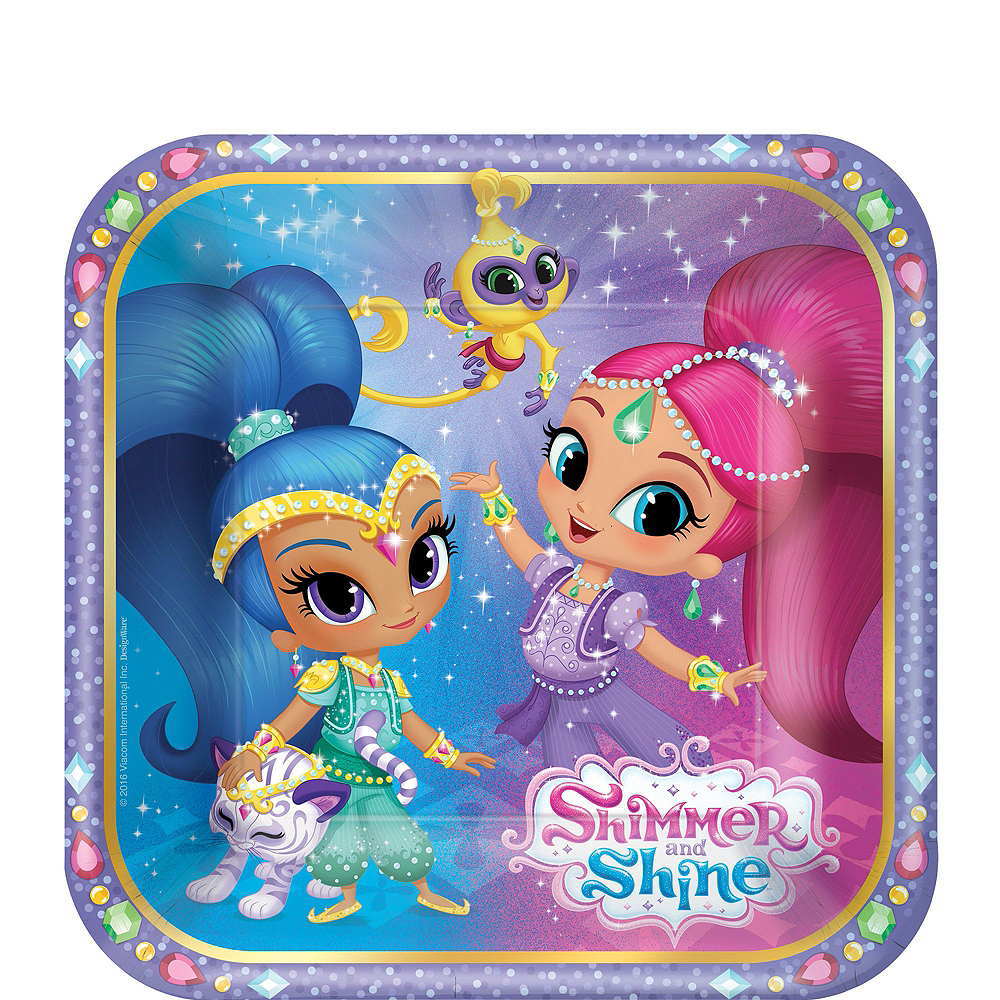 Shimmer and Shine Tableware Party Kit for 16 Guests Image #2