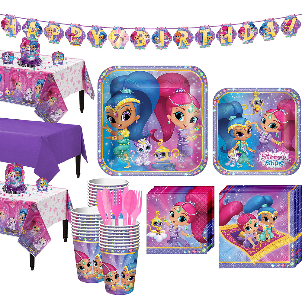 Nav Item For Shimmer And Shine Tableware Party Kit 24 Guests Image 1