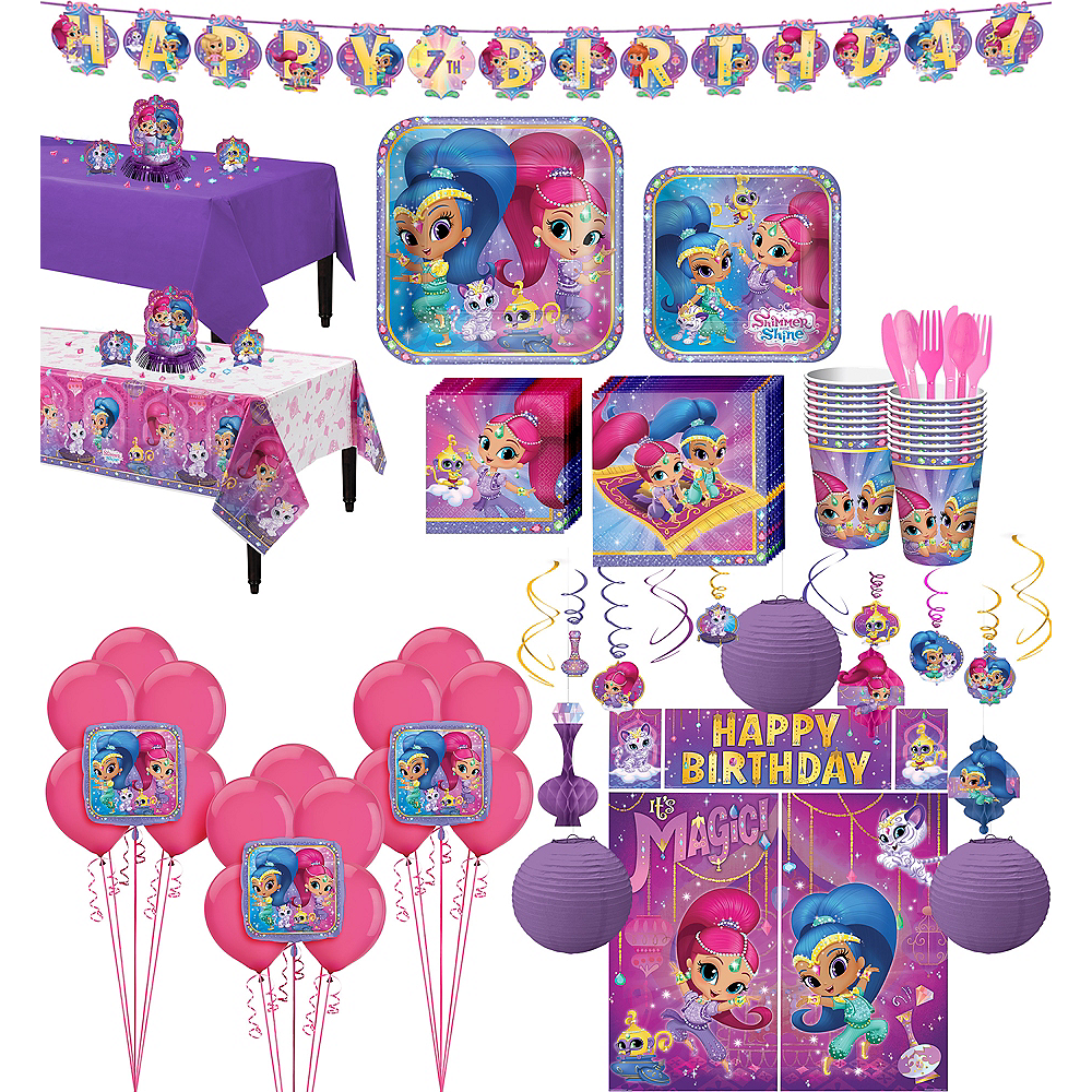 Nav Item For Shimmer And Shine Tableware Ultimate Kit 16 Guests Image 1