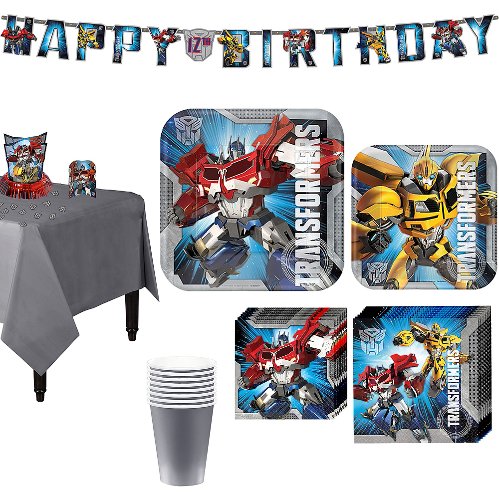 Transformers Tableware Party Kit for 8 Guests Image #1