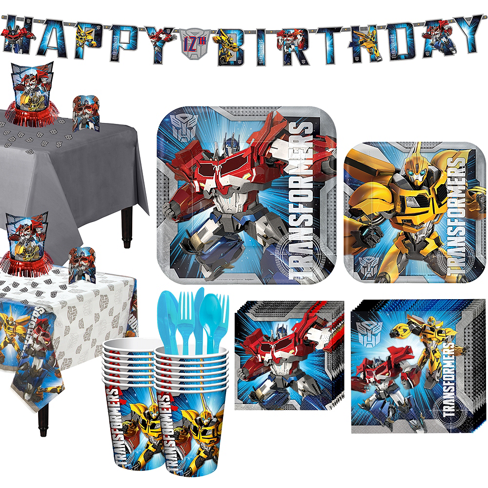Transformers Tableware Party Kit for 16 Guests Image #1
