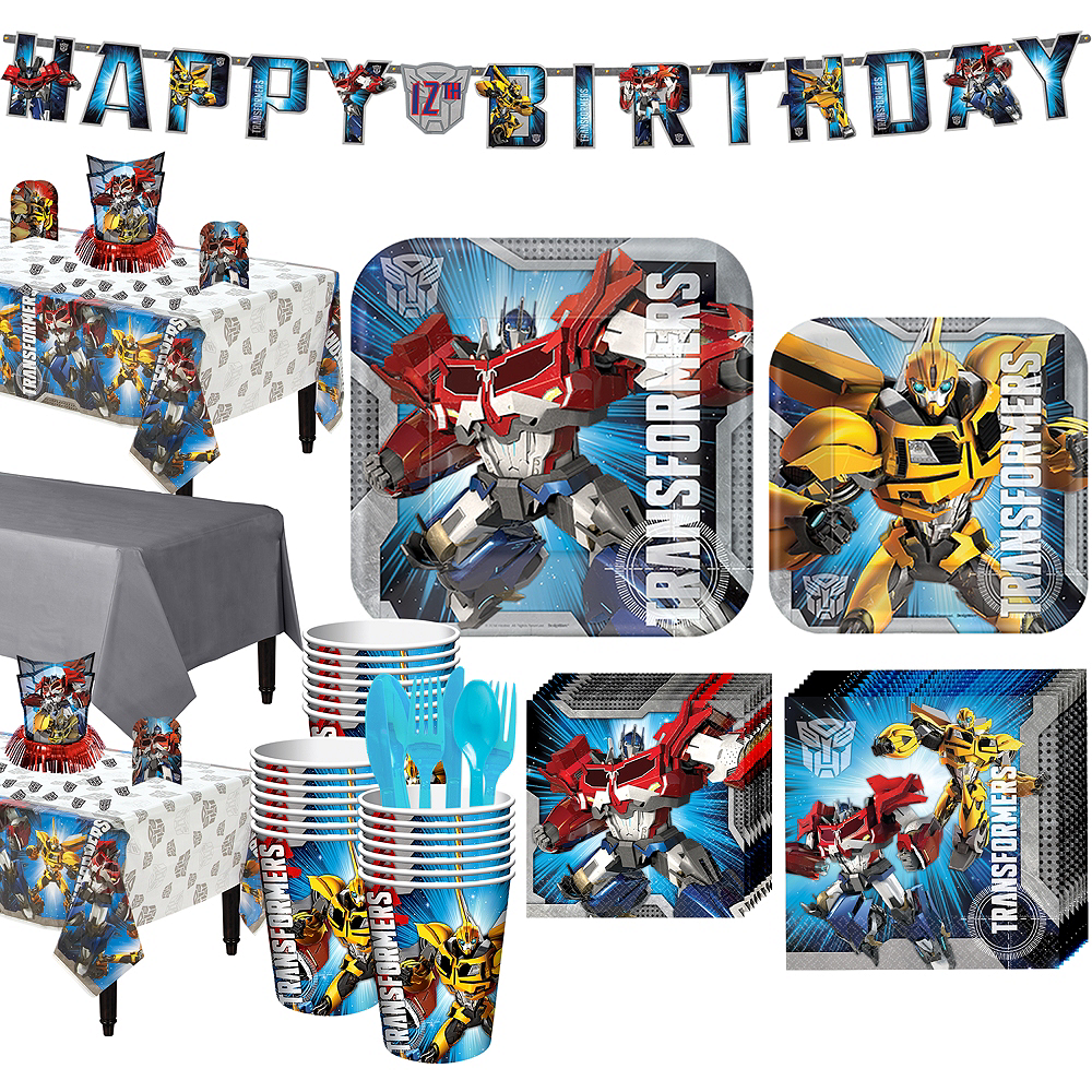 Transformers Tableware Party Kit for 24 Guests Image #1