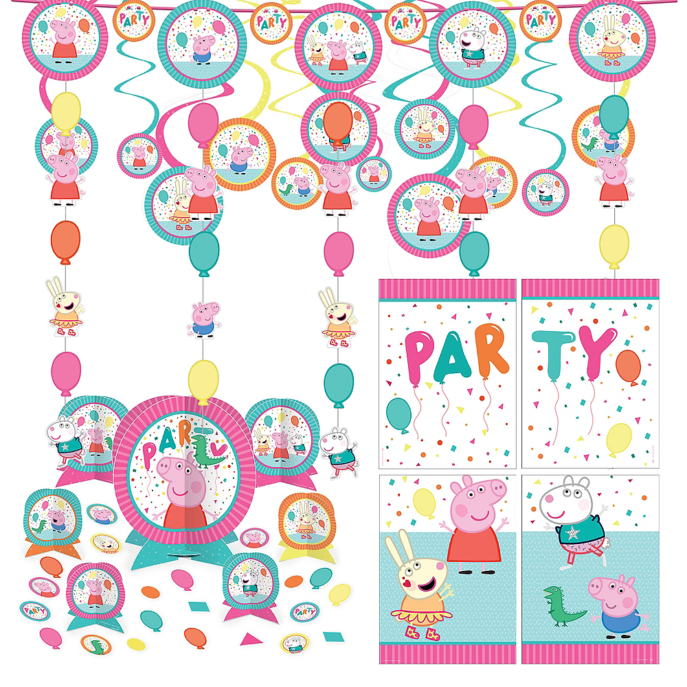 Peppa Pig Birthday Party Decorating Kit Image #1