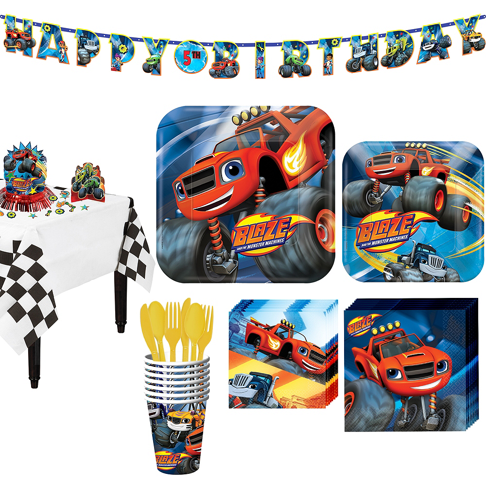 Blaze and the Monster Machines Tableware Party Kit for 8 Guests Image #1