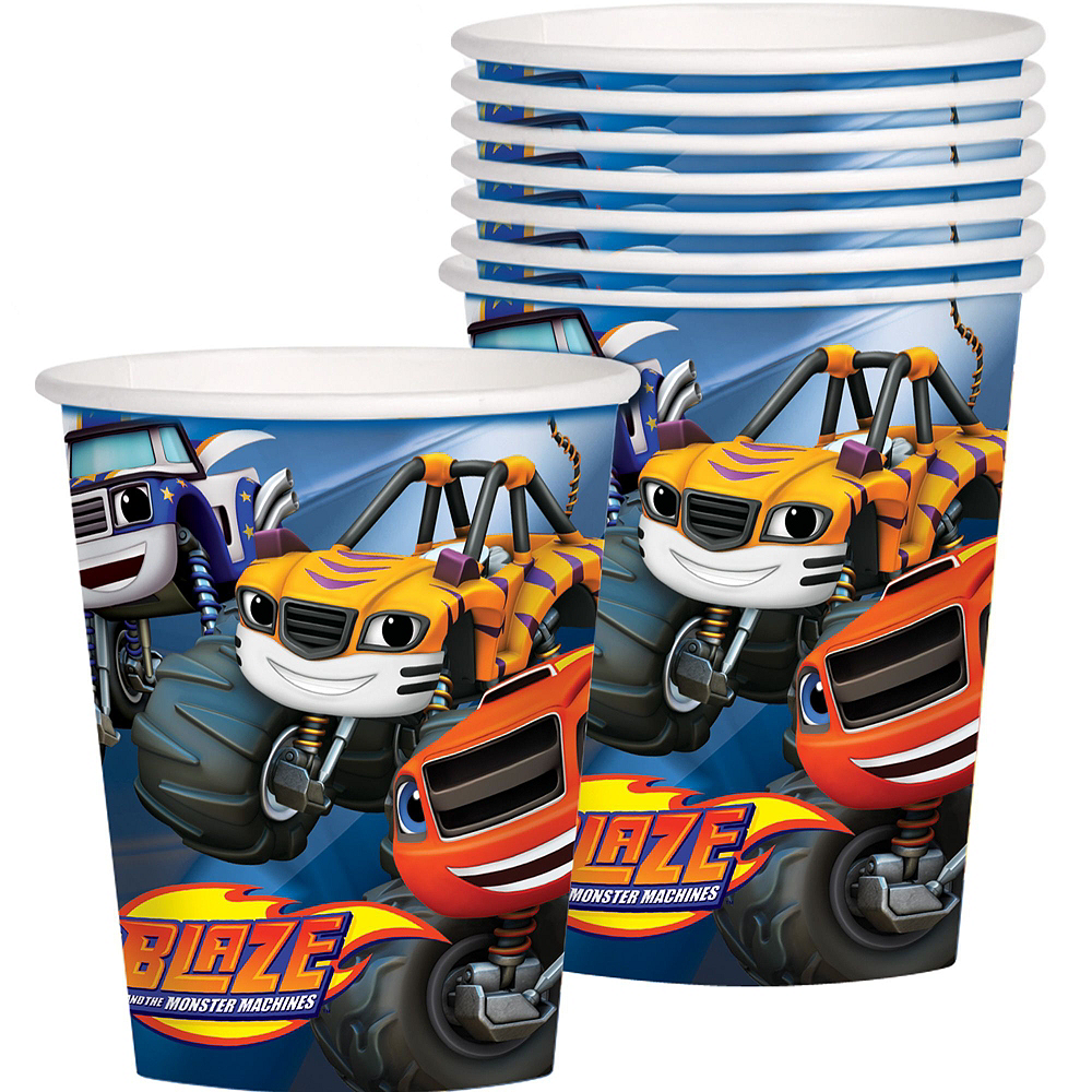 Blaze and the Monster Machines Tableware Party Kit for 8 Guests Image #8