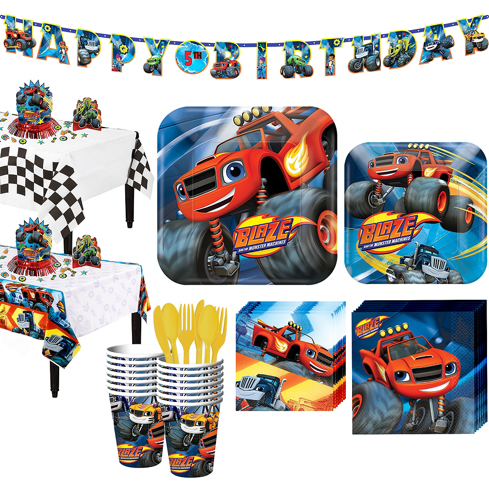 Blaze and the Monster Machines Tableware Party Kit for 16 Guests Image #1