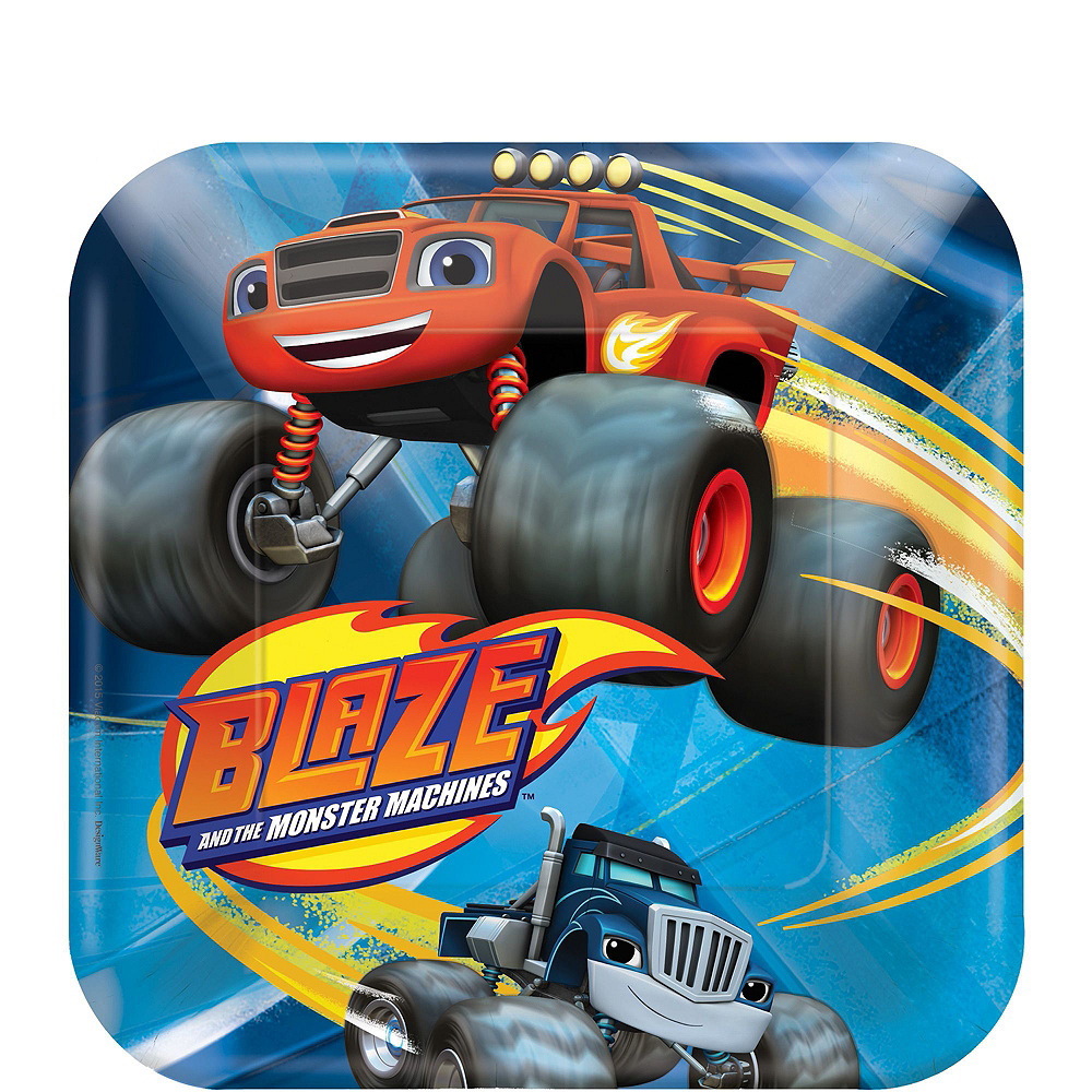 Blaze and the Monster Machines Tableware Party Kit for 16 Guests Image #4