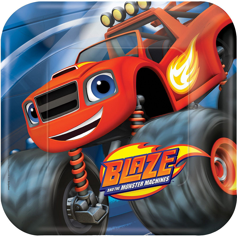 Blaze and the Monster Machines Tableware Party Kit for 16 Guests Image #5