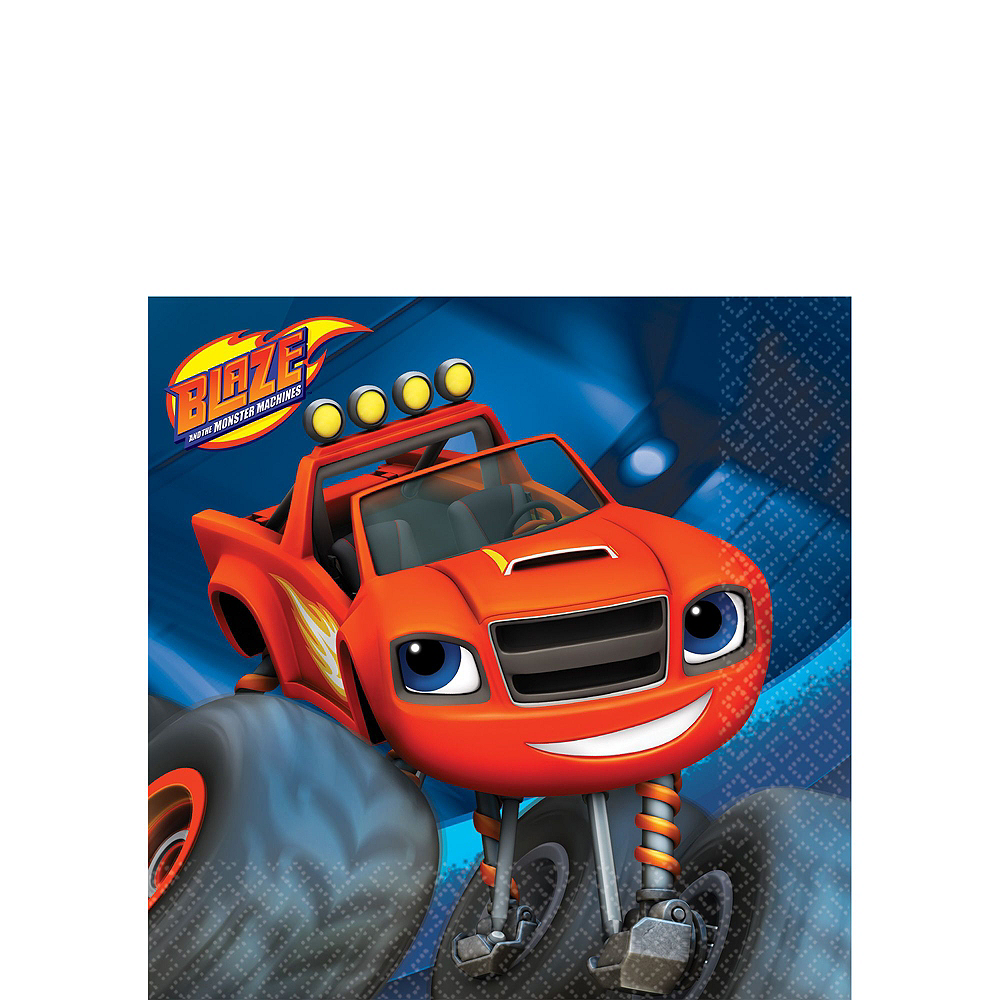 Blaze and the Monster Machines Tableware Party Kit for 16 Guests Image #6