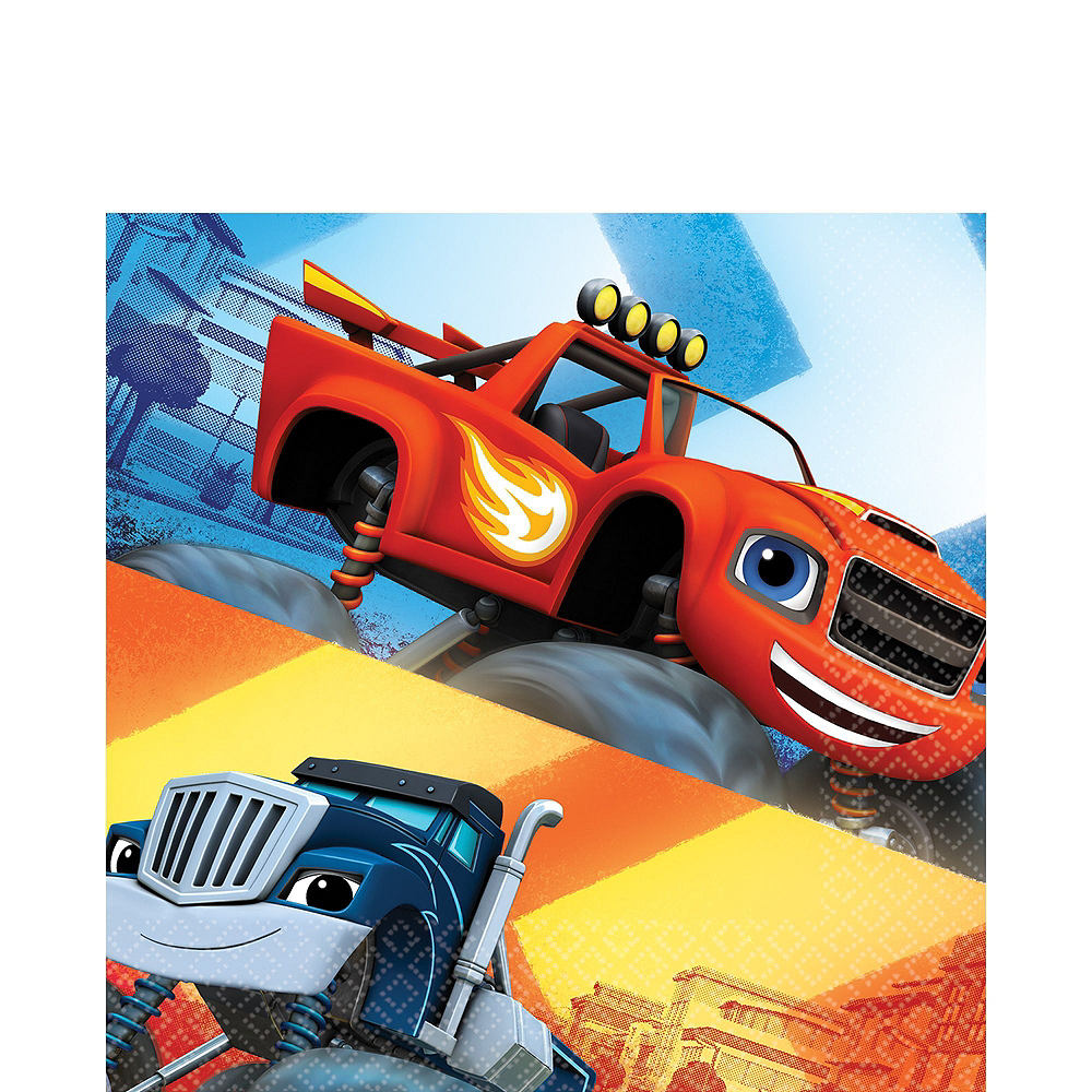 Blaze and the Monster Machines Tableware Party Kit for 16 Guests Image #7