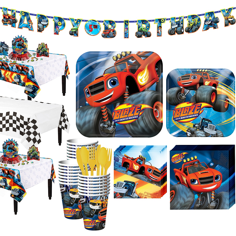 Blaze and the Monster Machines Tableware Party Kit for 24 Guests Image #1