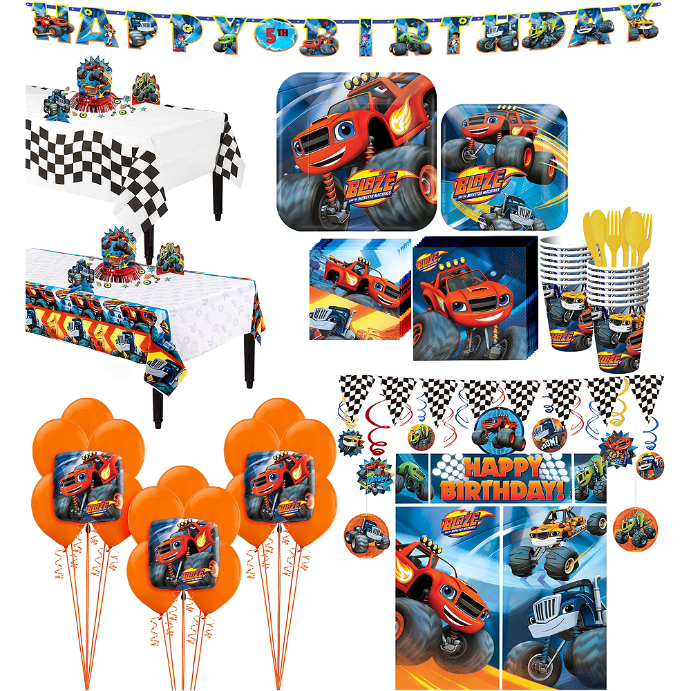 Blaze and the Monster Machines Tableware Ultimate Kit for 16 Guests Image #1