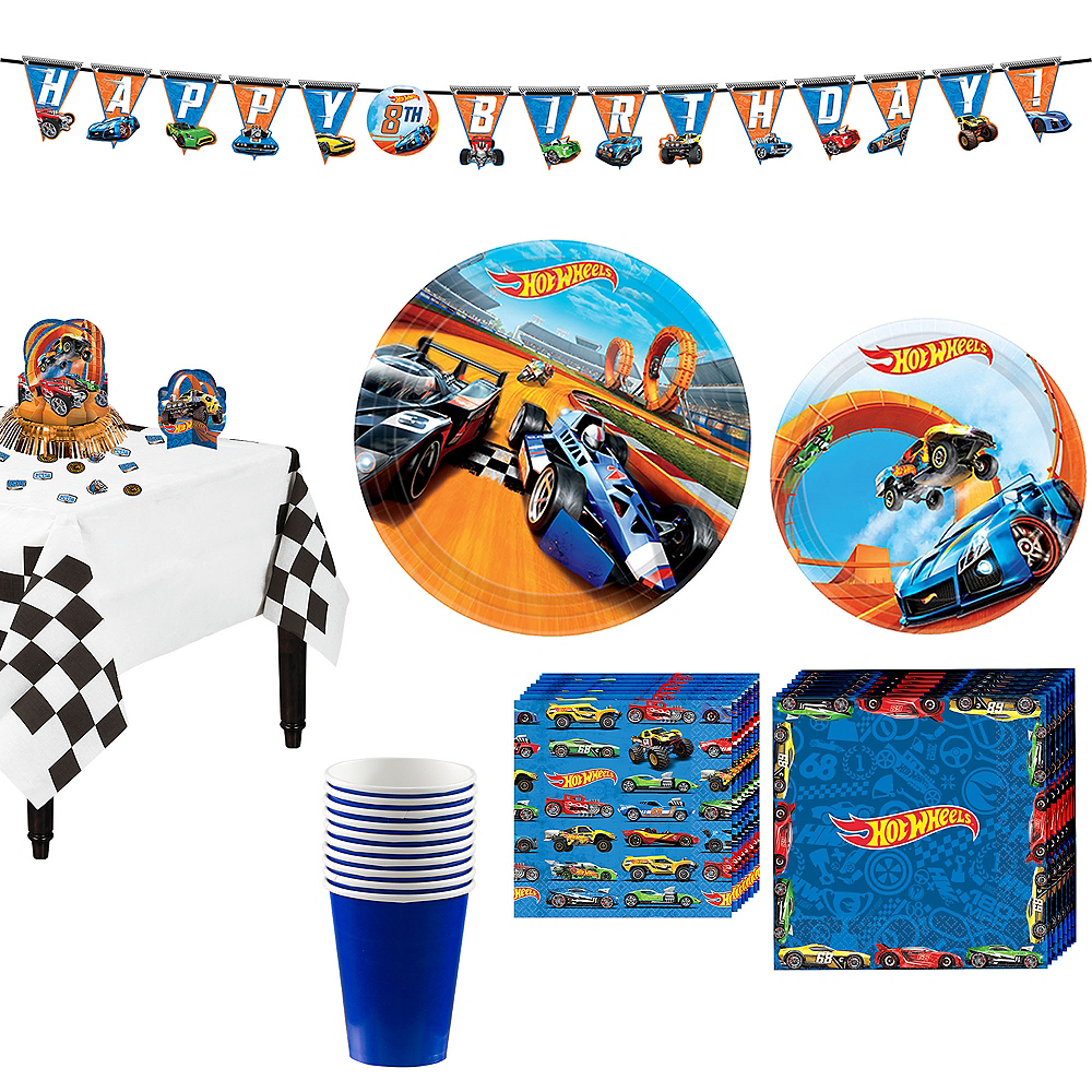 Hot Wheels Tableware Party Kit for 8 Guests Image #1