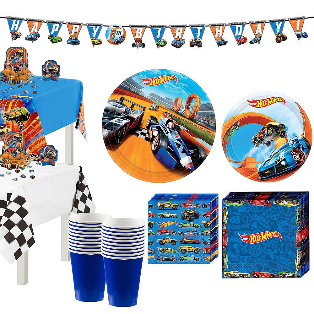 Hot Wheels Tableware Party Kit for 16 Guests Image #1