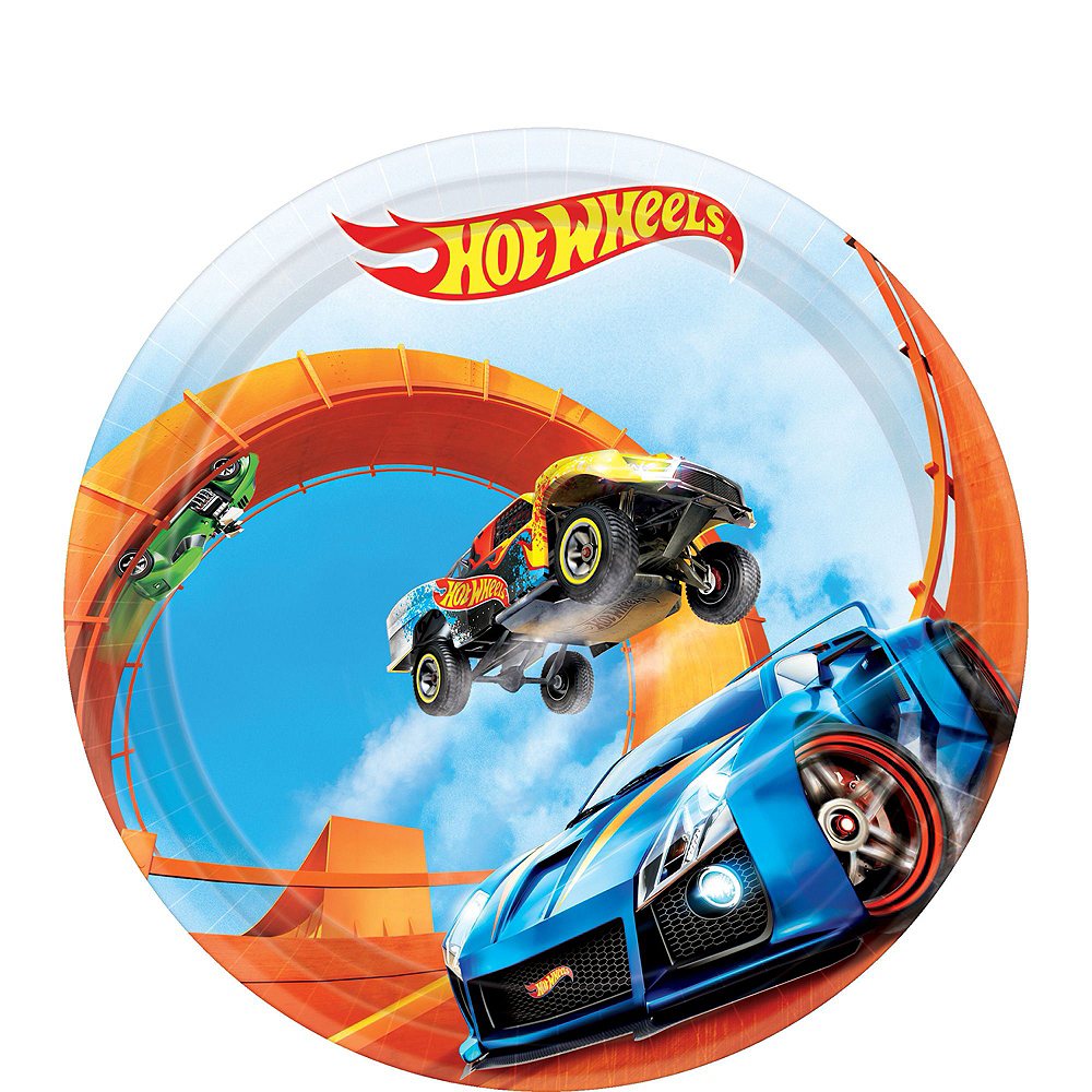 Hot Wheels Tableware Party Kit for 16 Guests Image #2