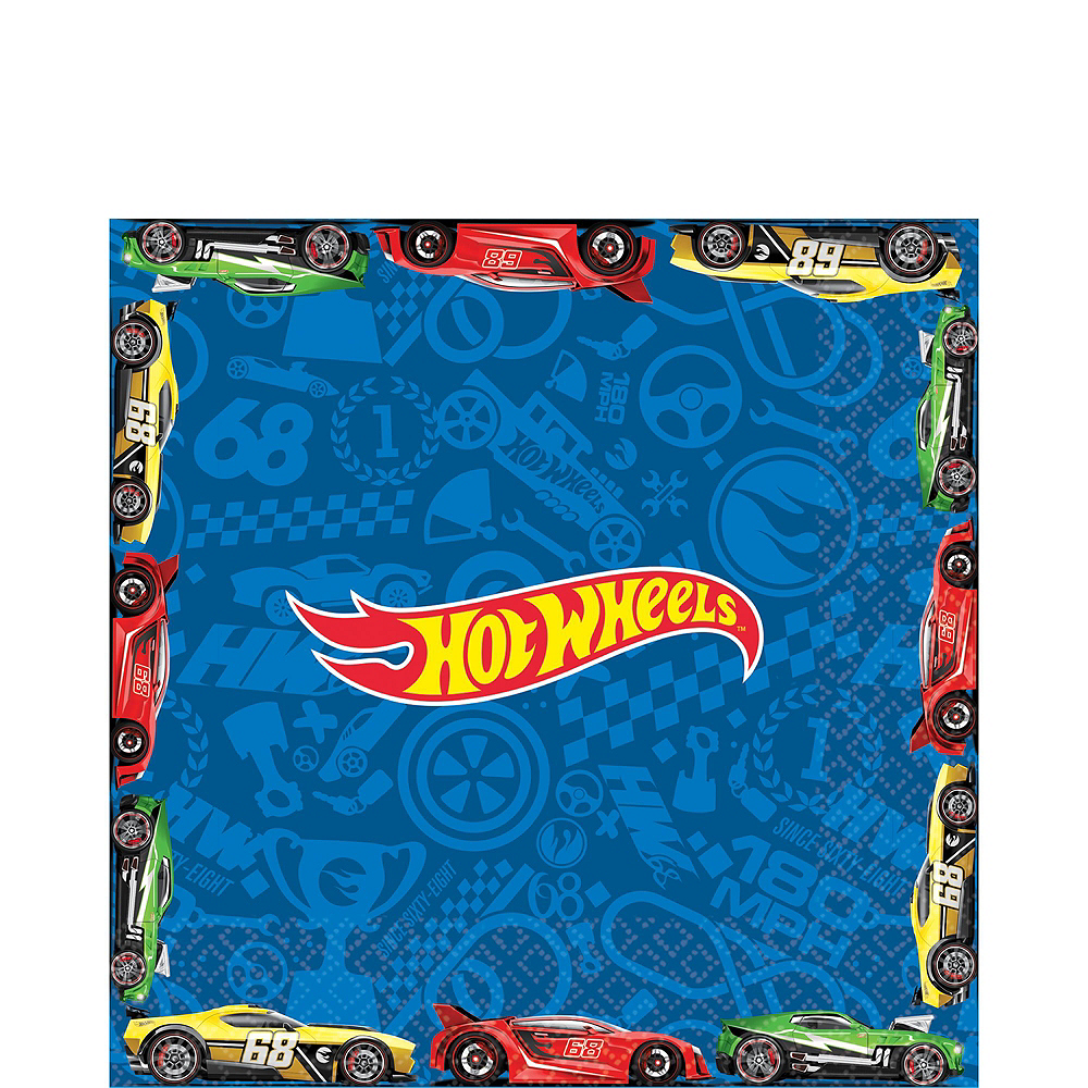 Hot Wheels Tableware Party Kit for 16 Guests Image #5