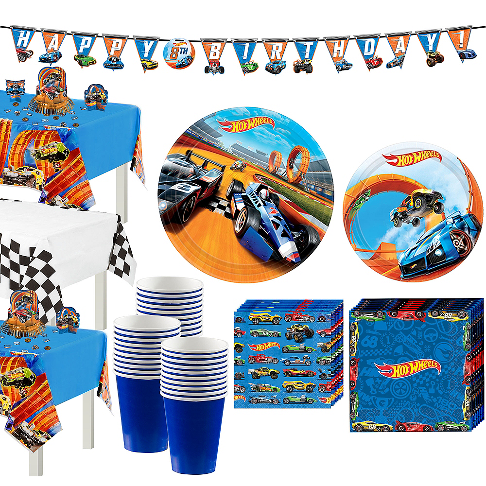 Hot Wheels Tableware Party Kit for 24 Guests Image #1