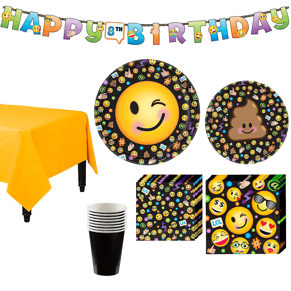 Nav Item For Smiley Tableware Party Kit 8 Guests Image 1