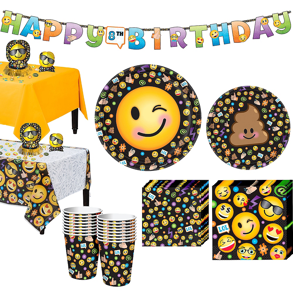 Smiley Tableware Party Kit for 16 Guests Image #1