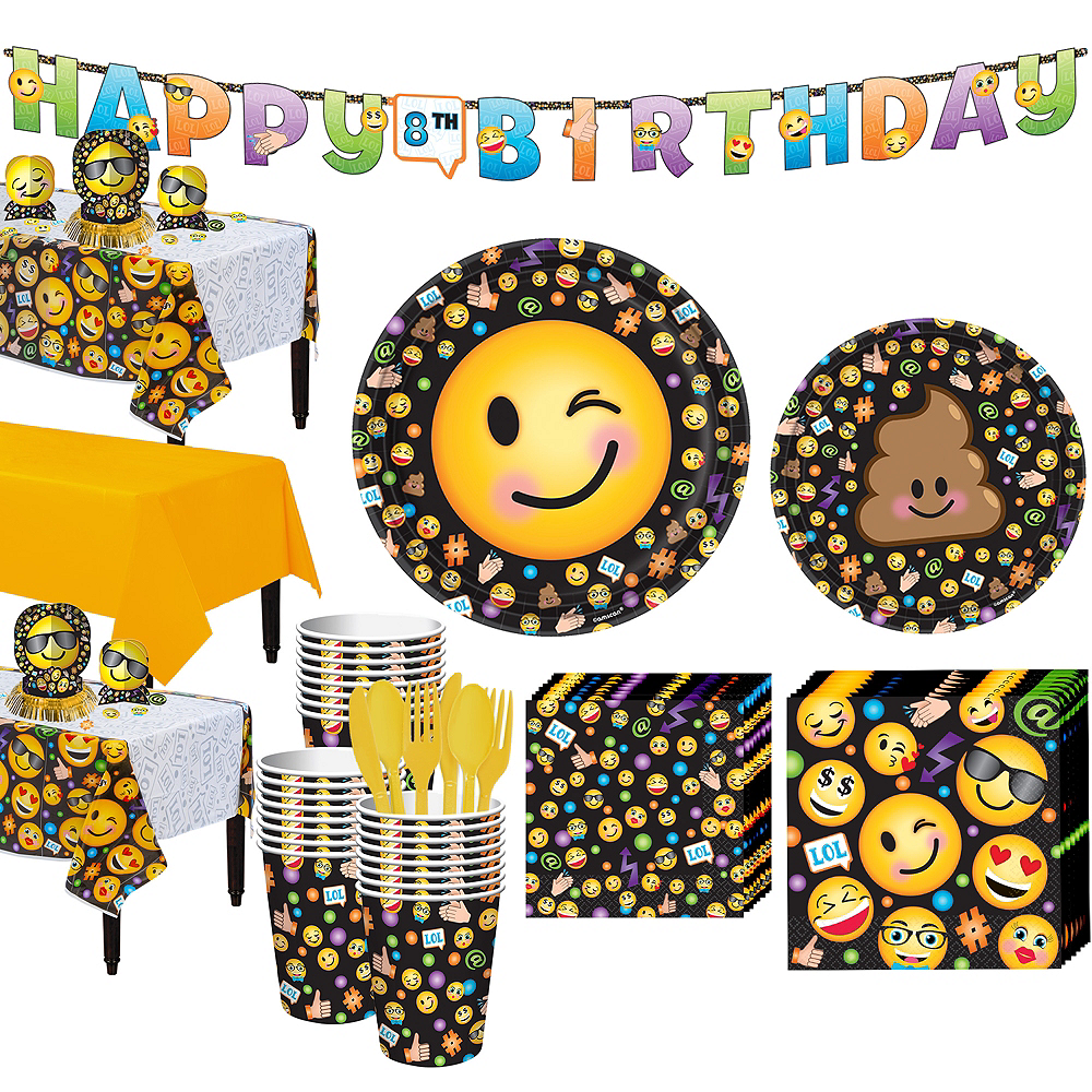 Smiley Tableware Party Kit for 24 Guests Image #1