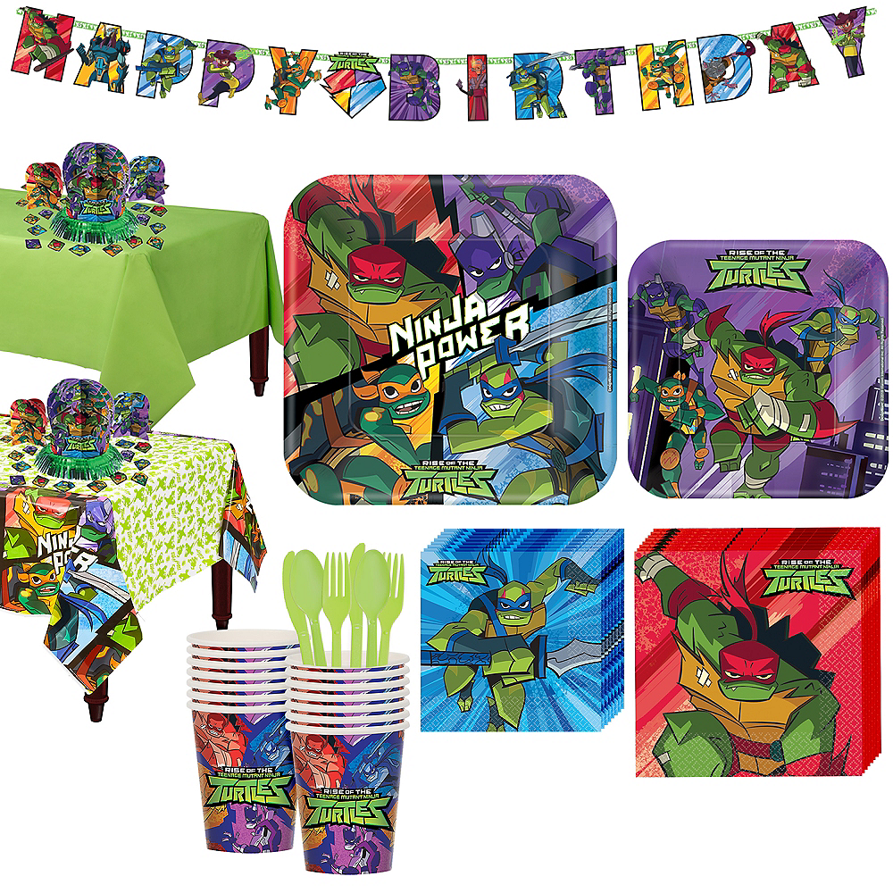 Rise of the Teenage Mutant Ninja Turtles Tableware Kit for 16 Guests Image #1