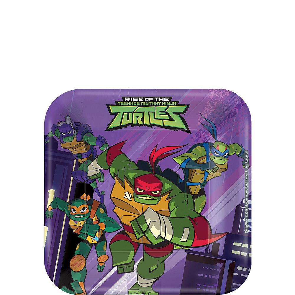 Nav Item for Rise of the Teenage Mutant Ninja Turtles Tableware Kit for 16 Guests Image #2