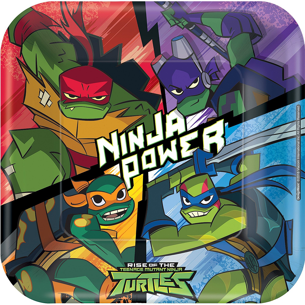 Rise of the Teenage Mutant Ninja Turtles Tableware Kit for 16 Guests Image #3