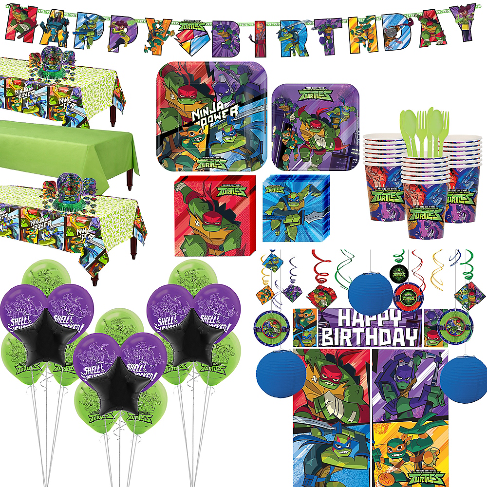 Nav Item for Ultimate Rise of the Teenage Mutant Ninja Turtles Tableware Kit for 24 Guests Image #1