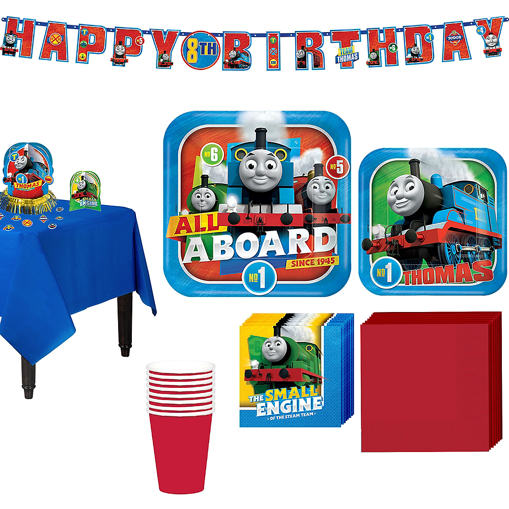 Thomas The Tank Engine Tableware Party Kit for 8 Guests Image #1