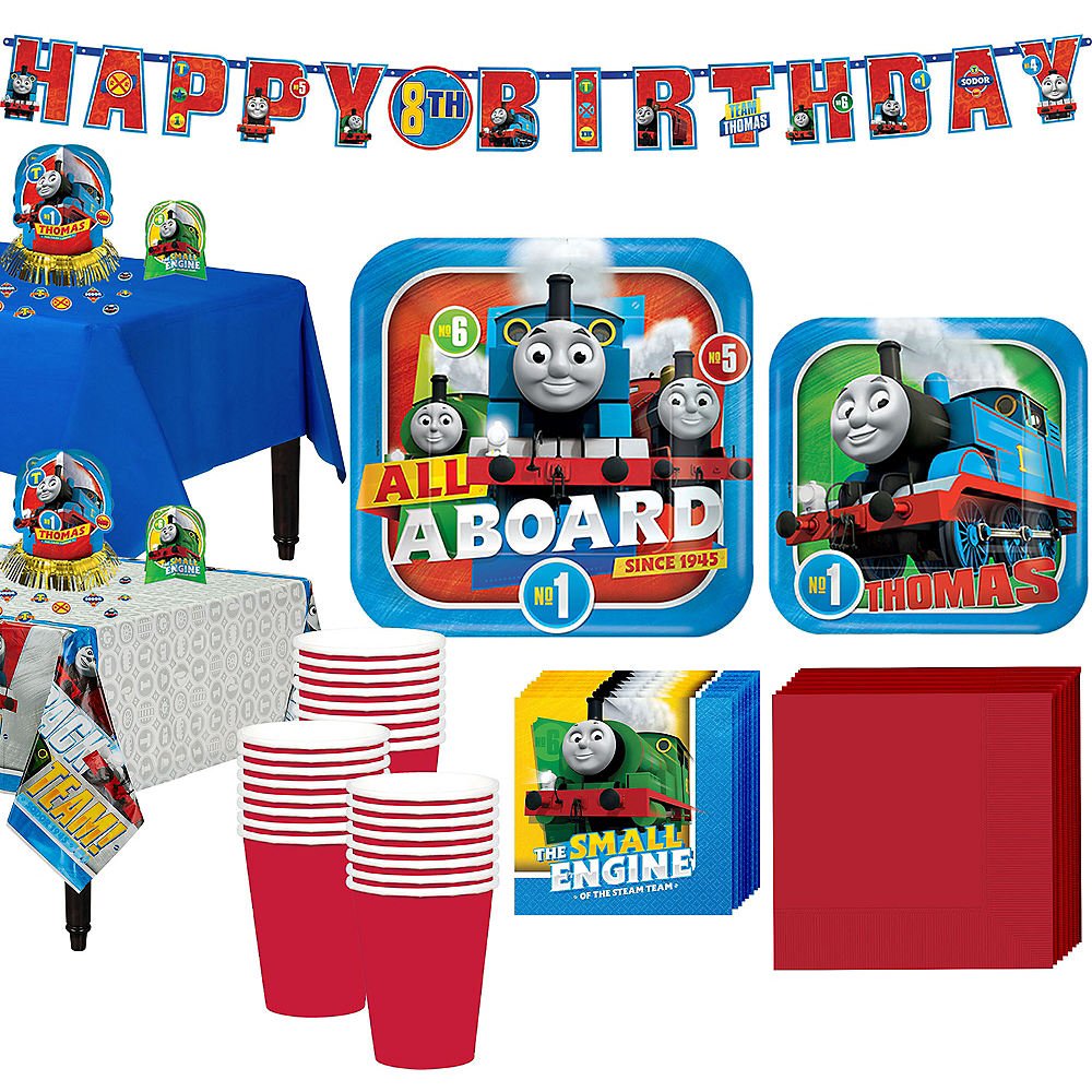 Thomas The Tank Engine Tableware Party Kit for 16 Guests Image #1