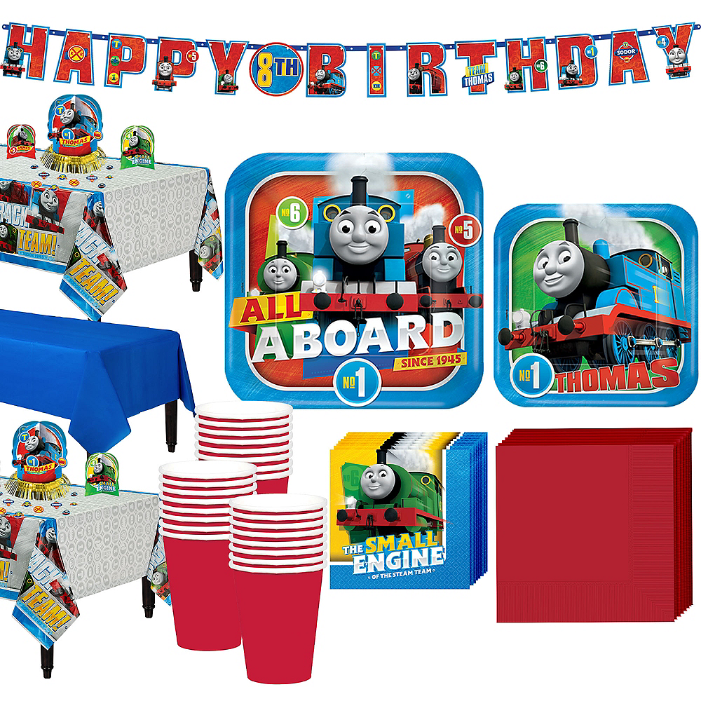 Thomas The Tank Engine Tableware Party Kit for 24 Guests Image #1