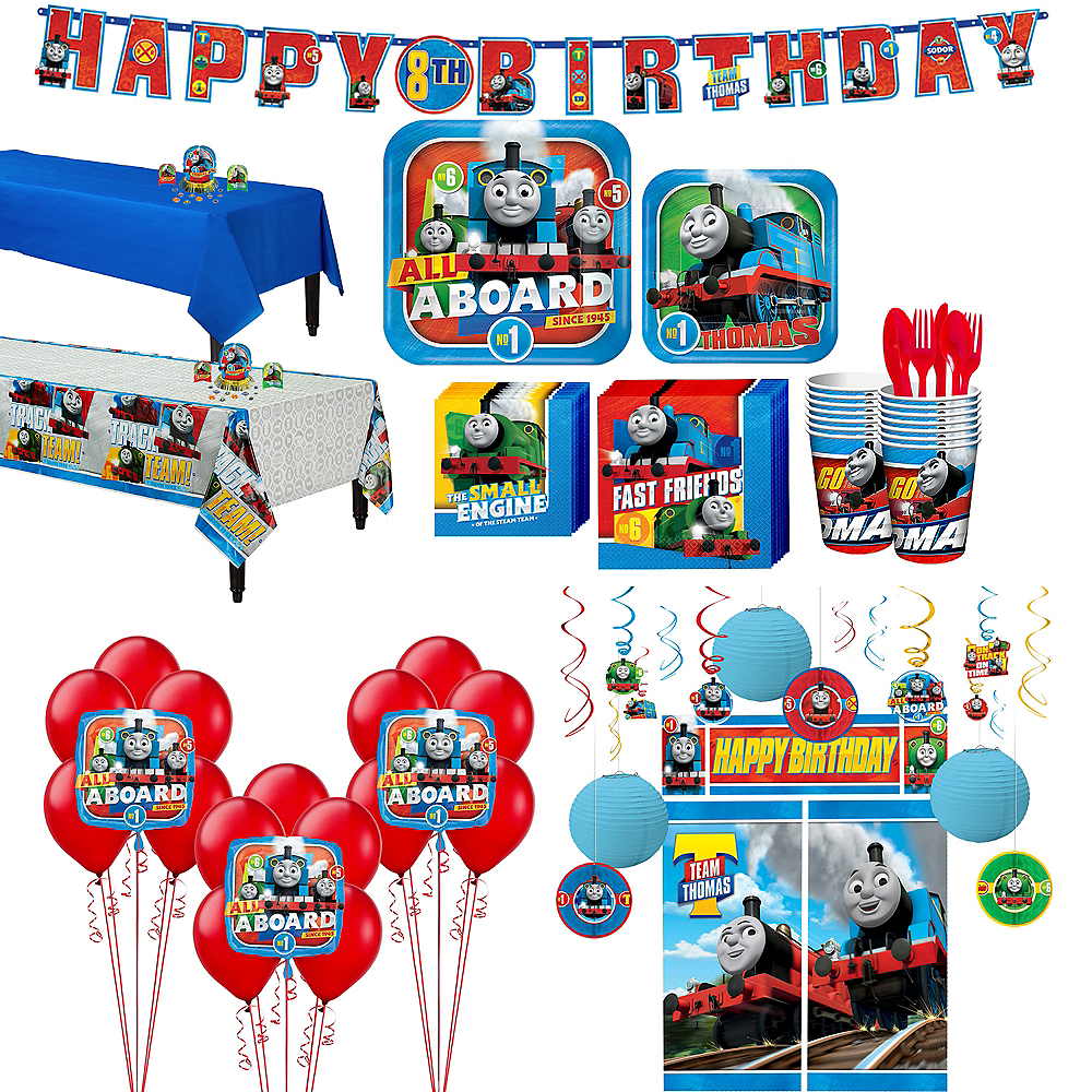 Thomas The Tank Engine Tableware Ultimate Kit for 16 Guests Image #1