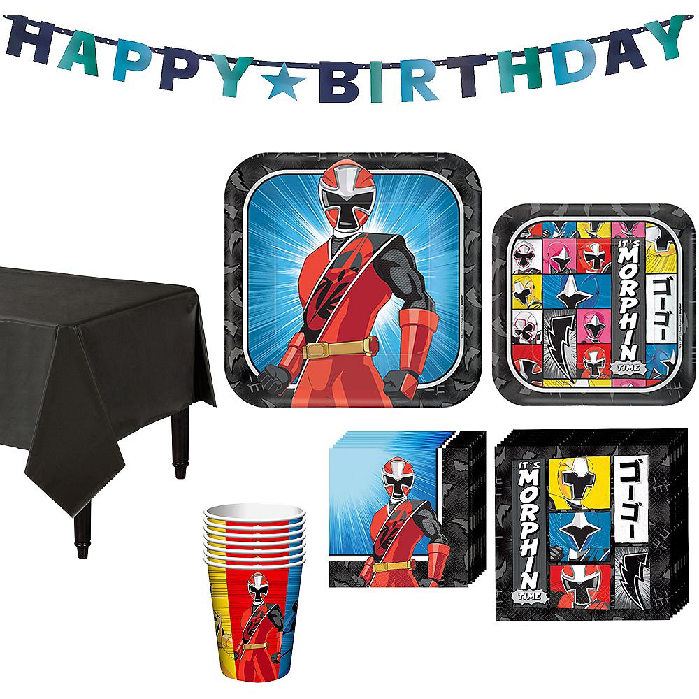 Power Rangers Ninja Steel Tableware Party Kit for 8 Guests Image #1