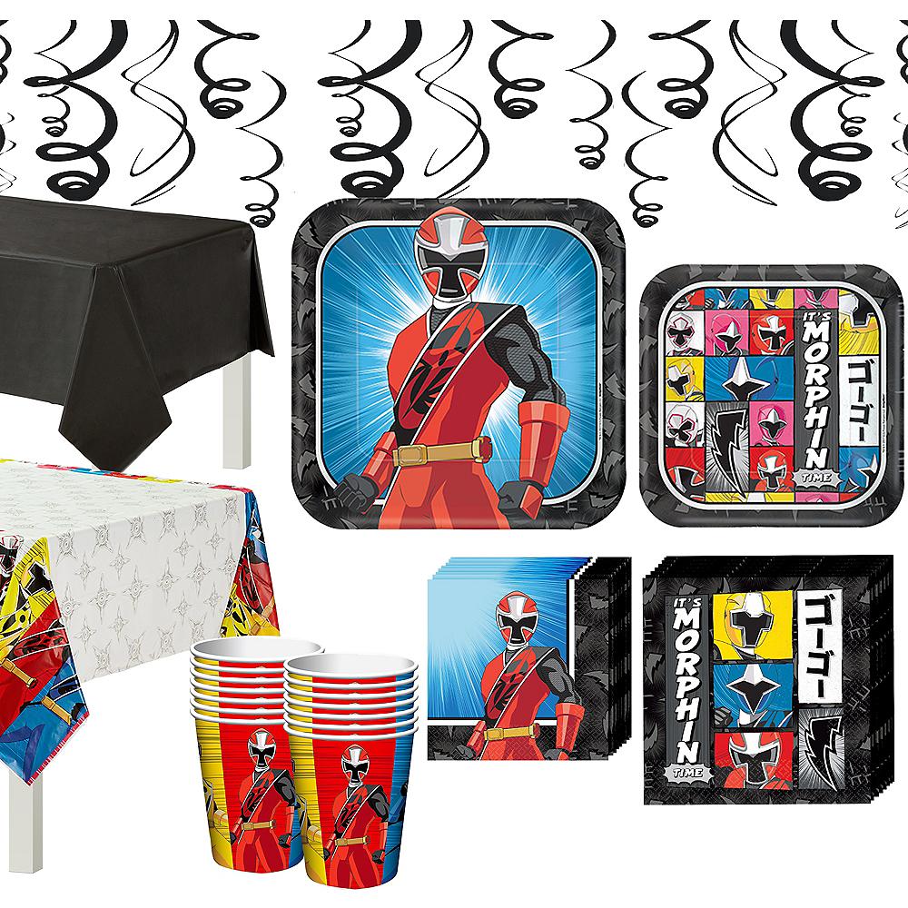 Power Rangers Ninja Steel Tableware Party Kit for 16 Guests Image #1