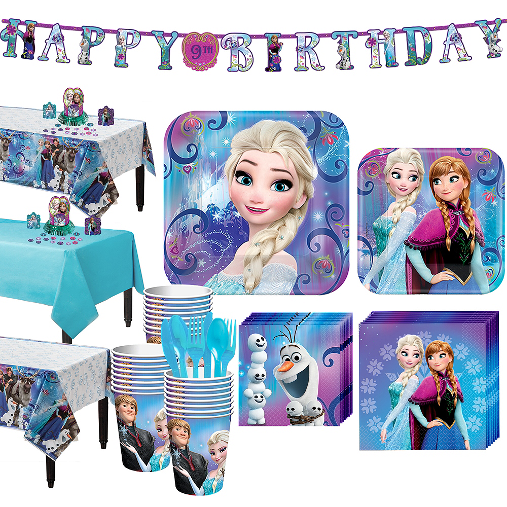 Frozen Tableware Party Kit For 24 Guests Image 1