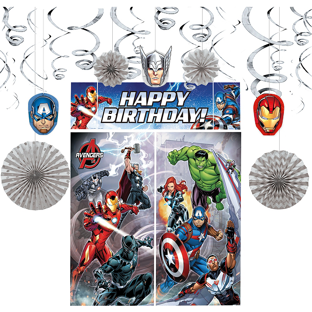 See All Avengers Party Supplies Decorating Kit Image 1