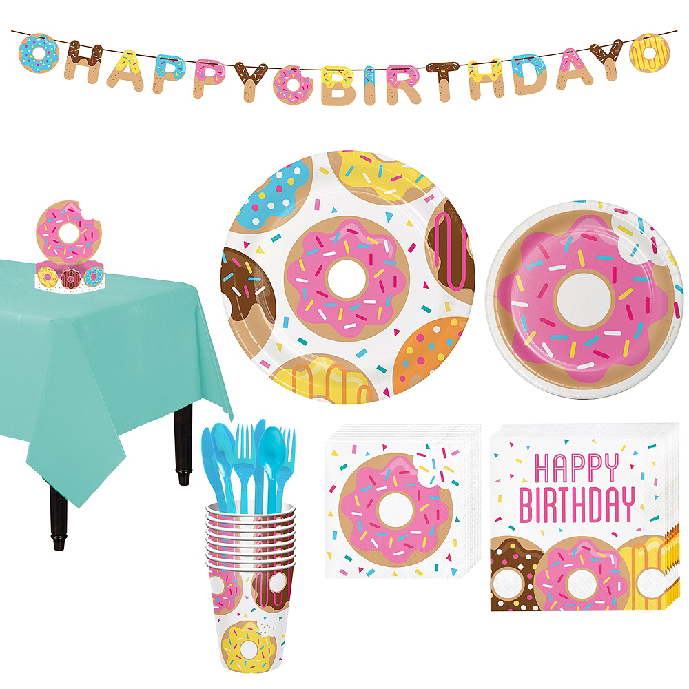 Donut Tableware Party Kit for 8 Guests Image #1