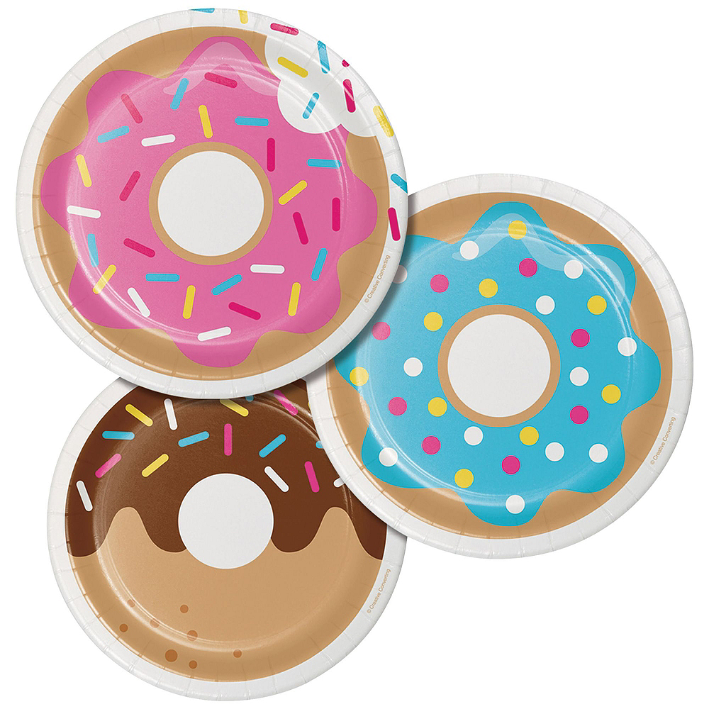 Donut Tableware Party Kit for 8 Guests Image #2