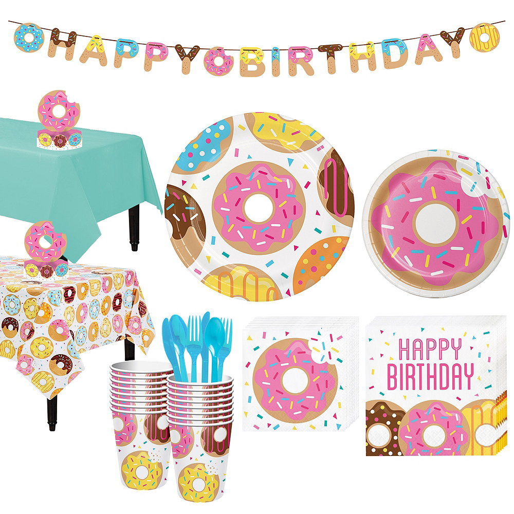 Donut Tableware Party Kit for 16 Guests Image #1