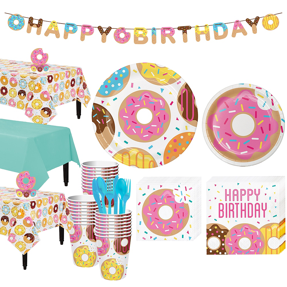 Donut Tableware Party Kit for 24 Guests Image #1