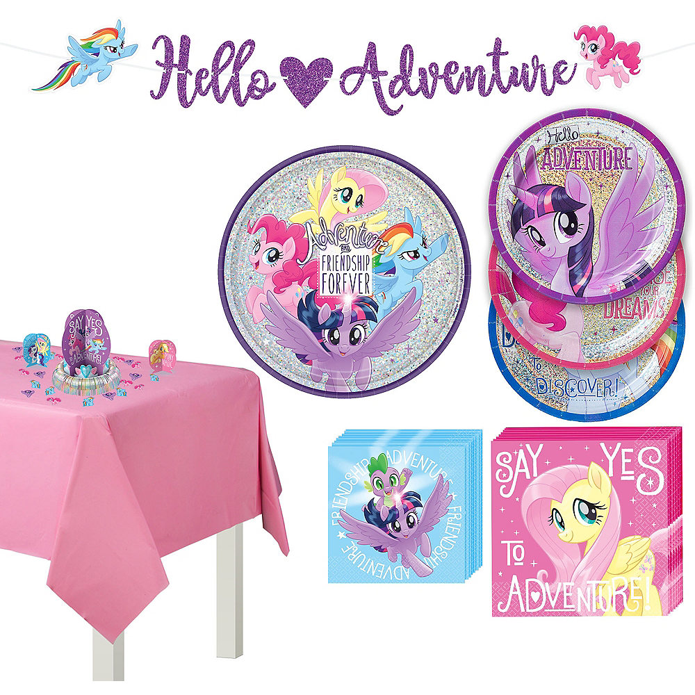 My Little Pony Tableware Party Kit For 8 Guests Image 1
