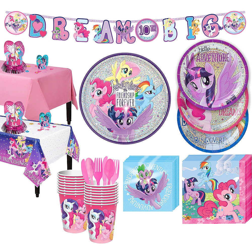 My Little Pony Tableware Party Kit for 16 Guests Image #1