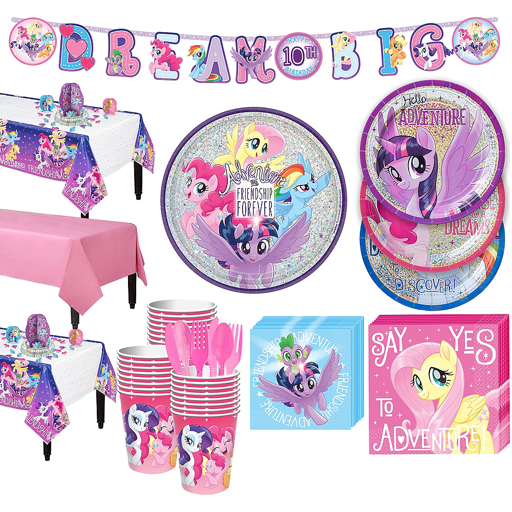 My Little Pony Tableware Party Kit for 24 Guests Image #1