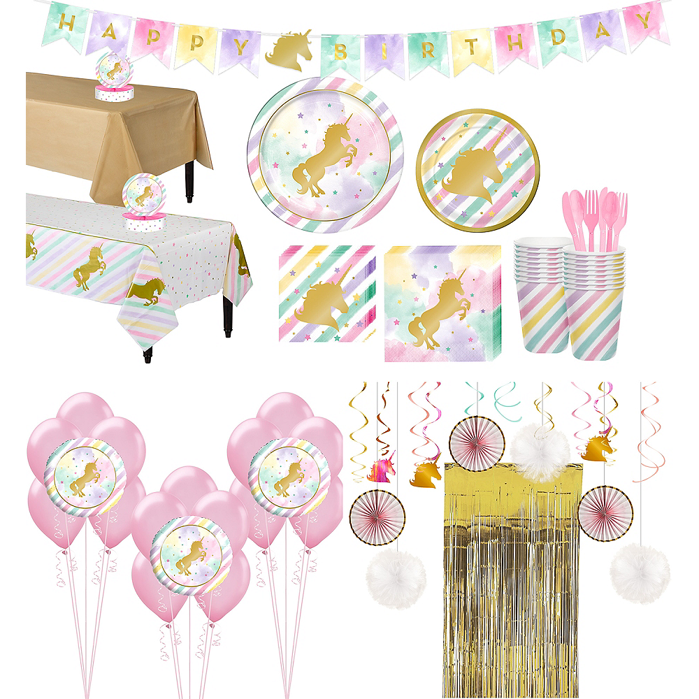 Sparkling Unicorn Tableware Ultimate Kit for 16 Guests Image #1